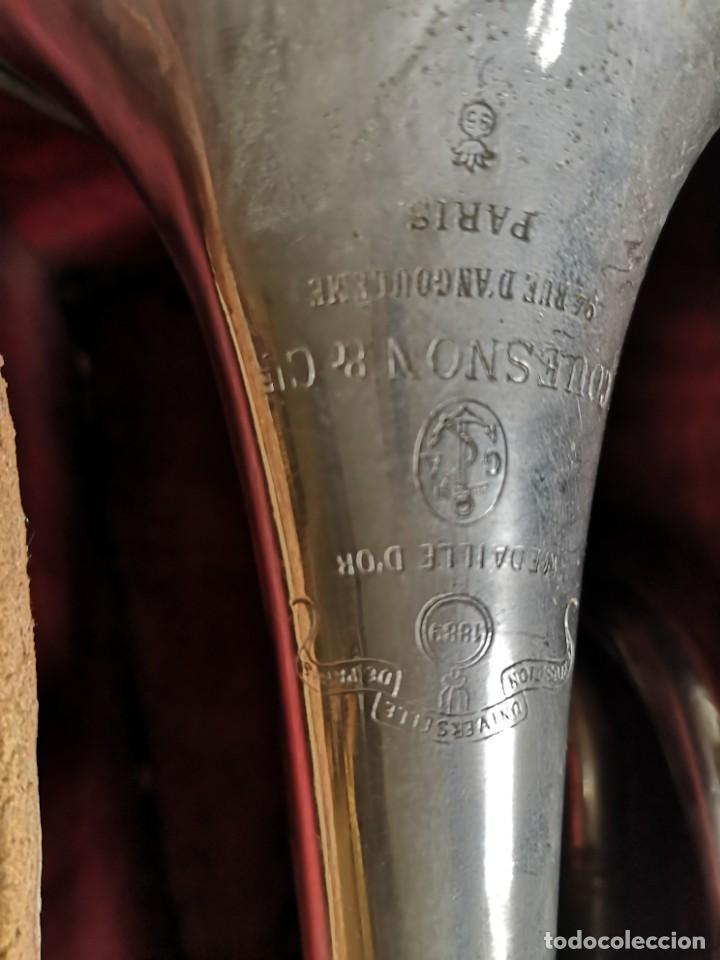 Antigüedades: Antigua trompeta couesnon & cie 1889 - Foto 9 - 158254978