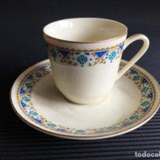 Antigüedades: PLATO Y TAZA DE CAFE DE PORCELANA CHINA. Lote 158263102