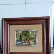 Antigüedades: CUADRO MUJERES LAVANDO EN EL RIO. DE VAYREDA. . Lote 158264790