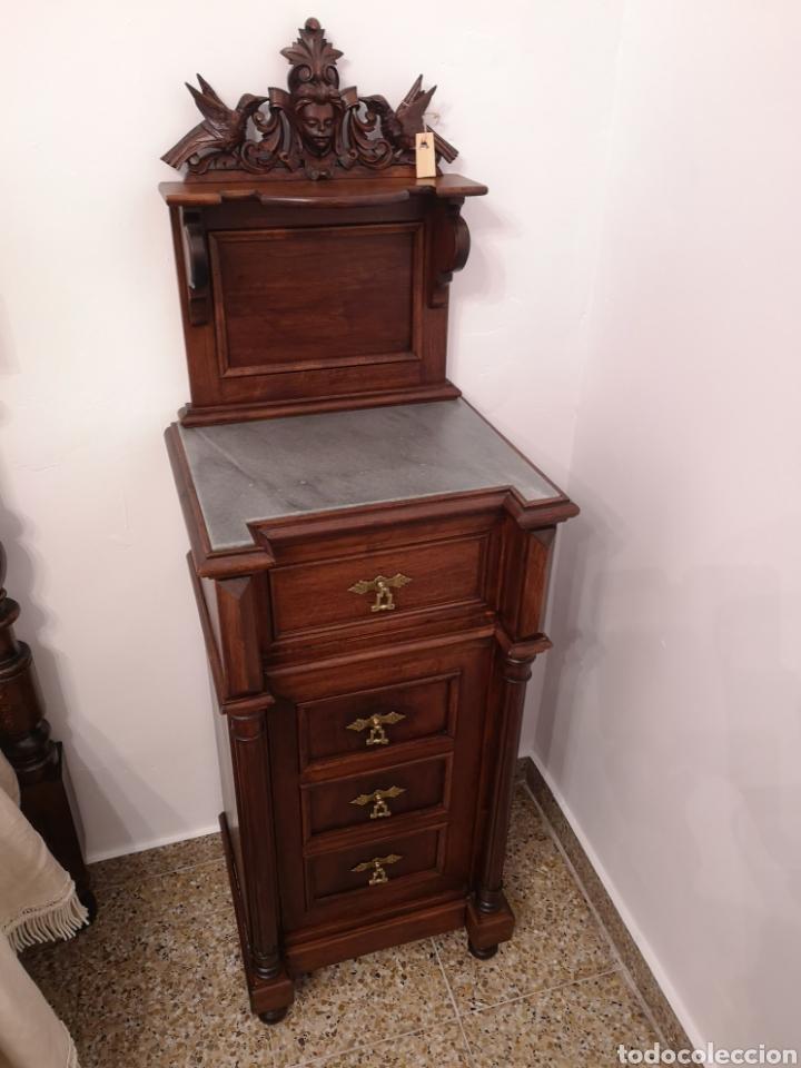 Antigüedades: Habitación cama1.35 Alfonsina, mesitas y cómoda - Foto 3 - 158303726