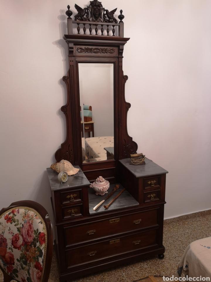Antigüedades: Habitación cama1.35 Alfonsina, mesitas y cómoda - Foto 7 - 158303726