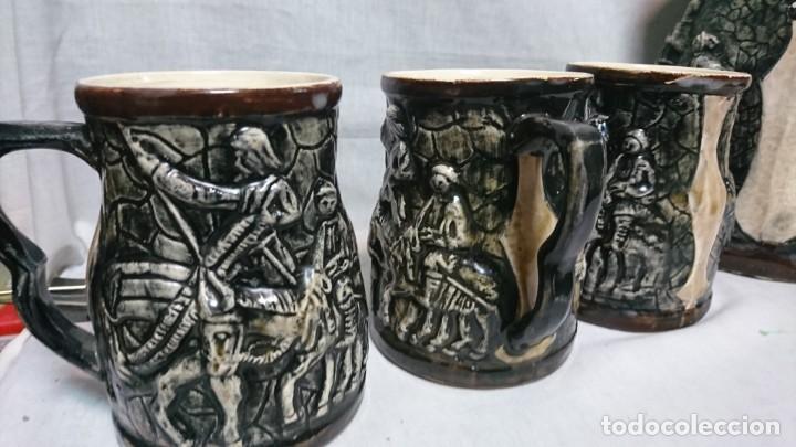 Antigüedades: JARRA Y COPAS DE PORCELANA, DON QUIJOTE DE LA MANCHA Y SANCHO PANZA - Foto 4 - 158307422
