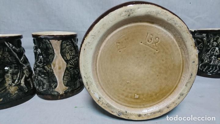 Antigüedades: JARRA Y COPAS DE PORCELANA, DON QUIJOTE DE LA MANCHA Y SANCHO PANZA - Foto 8 - 158307422