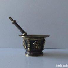 Antigüedades: ALMIREZ O MORTERO DE BRONCE. Lote 158317238