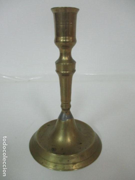 Antigüedades: Antiguo Candelabro - Bronce - 20 cm Altura - Peso 419 gr - S. XIX - Foto 7 - 158374970