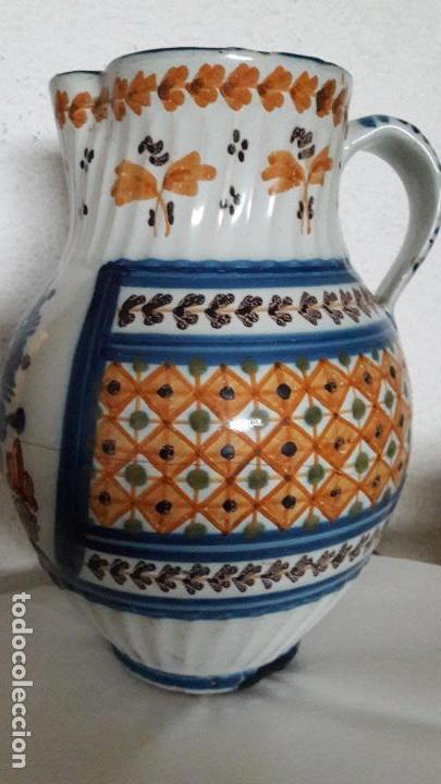 JARRA CERAMICA TALAVERA VIRGEN DEL PRADO S XIX (Antigüedades - Porcelanas y Cerámicas - Talavera)