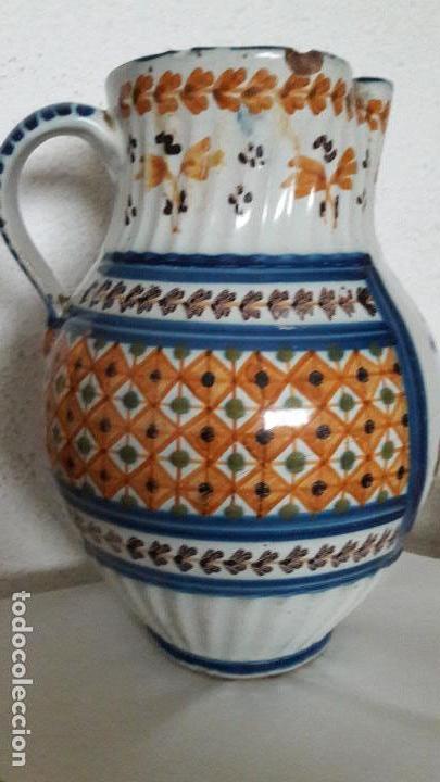 Antigüedades: Jarra ceramica Talavera Virgen del Prado S XIX - Foto 4 - 158380254