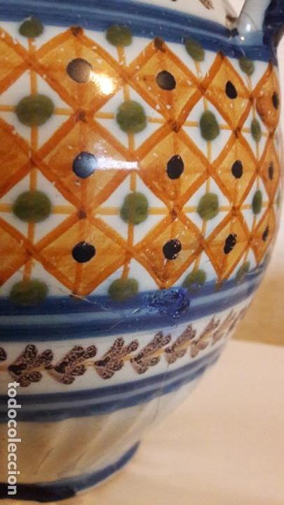 Antigüedades: Jarra ceramica Talavera Virgen del Prado S XIX - Foto 5 - 158380254
