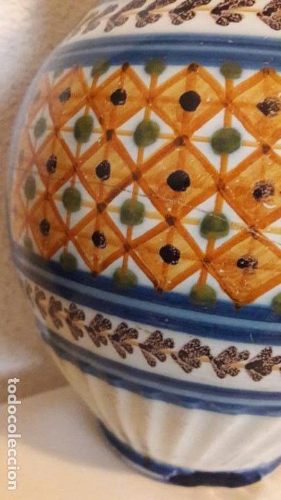 Antigüedades: Jarra ceramica Talavera Virgen del Prado S XIX - Foto 6 - 158380254