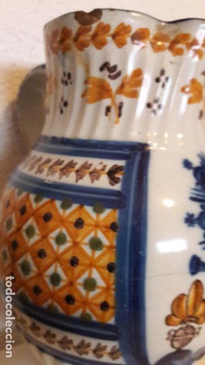 Antigüedades: Jarra ceramica Talavera Virgen del Prado S XIX - Foto 7 - 158380254