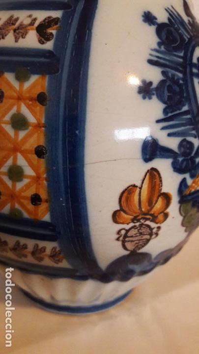 Antigüedades: Jarra ceramica Talavera Virgen del Prado S XIX - Foto 8 - 158380254