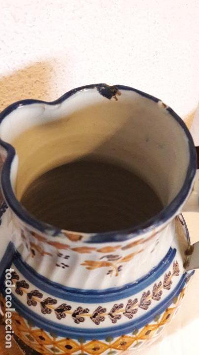 Antigüedades: Jarra ceramica Talavera Virgen del Prado S XIX - Foto 10 - 158380254