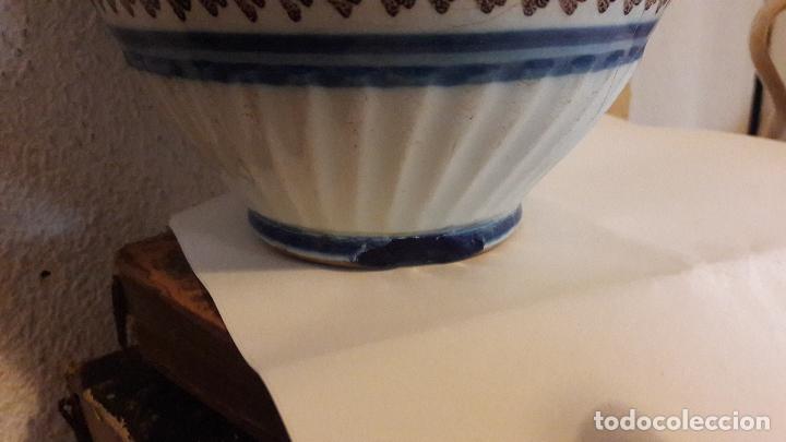 Antigüedades: Jarra ceramica Talavera Virgen del Prado S XIX - Foto 12 - 158380254