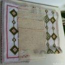 Antigüedades: LOTE DE 4 SERVILLETAS LINO Y 2 MANTELES BORDADOS. Lote 158393980