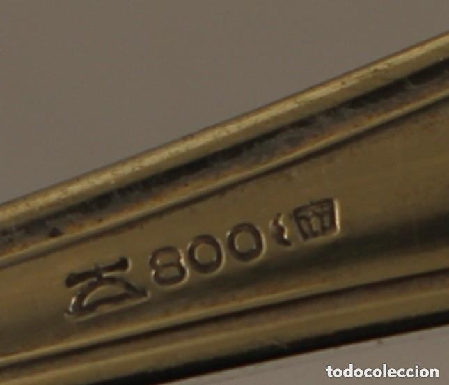 Antigüedades: Cuchara en plata maciza de ley 800 milesinas - Foto 5 - 158398454