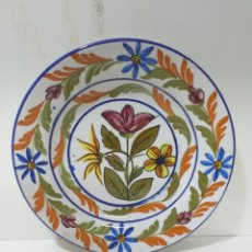 Antigüedades: PLATO HONDO DE CERAMICA GRANADINA. FAJALAUZA. PINTADO A MANO.. Lote 158403525