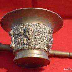Antigüedades: ANTIGUO ALMIREZ EN BRONCE COMPLETO. Lote 158408502