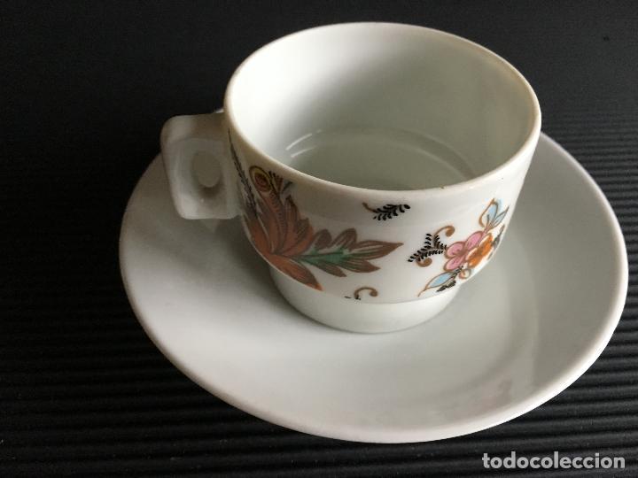 Antigüedades: PRECIOSO PLATO Y TAZA DE CAFÉ DE PORCELANA, - Foto 3 - 158412602