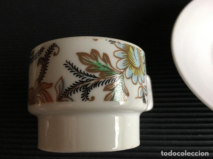 Antigüedades: PRECIOSO PLATO Y TAZA DE CAFÉ DE PORCELANA, - Foto 6 - 158412602