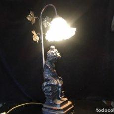 Antigüedades: PRECIOSA ESCULTURA DE LAMPARA DE SOBREMESA . Lote 158424966