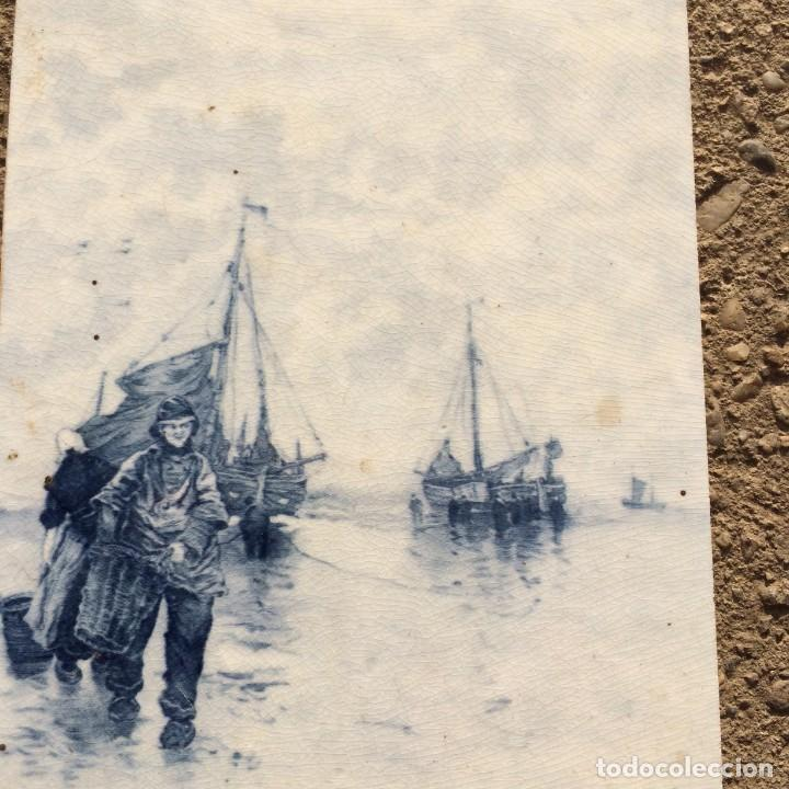 Antigüedades: Azulejos viejos azules y blancos del barco - Foto 2 - 158426330