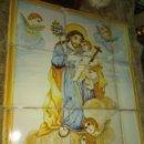 Antigüedades: PRECIOSO PANEL DE AZULEJOS RELIGIOSO SAN JOSÉ CON EL NIÑO. Lote 158442121