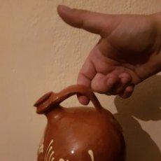 Antigüedades: MUY BONITO CANTARITO VIDRIADO Y PINTADO. Lote 158463300