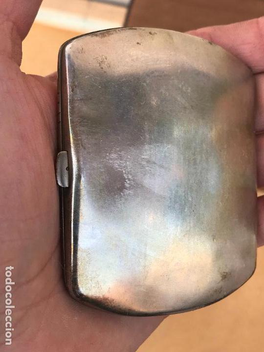 Antigüedades: Juego modernista de pitillera y cerillera de plata - Foto 6 - 158481214