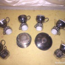 Antigüedades: ANTIGUO JUEGO DE CAFÉ DE PLATA. Lote 158483516