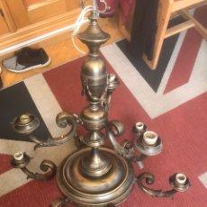 Antigüedades: LAMPARA DE BRONCE PARA RESTAURAR. Lote 158493876