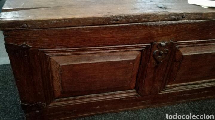 Antigüedades: Arca o baul antiguo de madera de roble - Foto 3 - 158501449