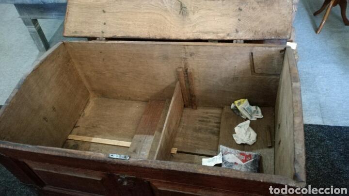 Antigüedades: Arca o baul antiguo de madera de roble - Foto 6 - 158501449