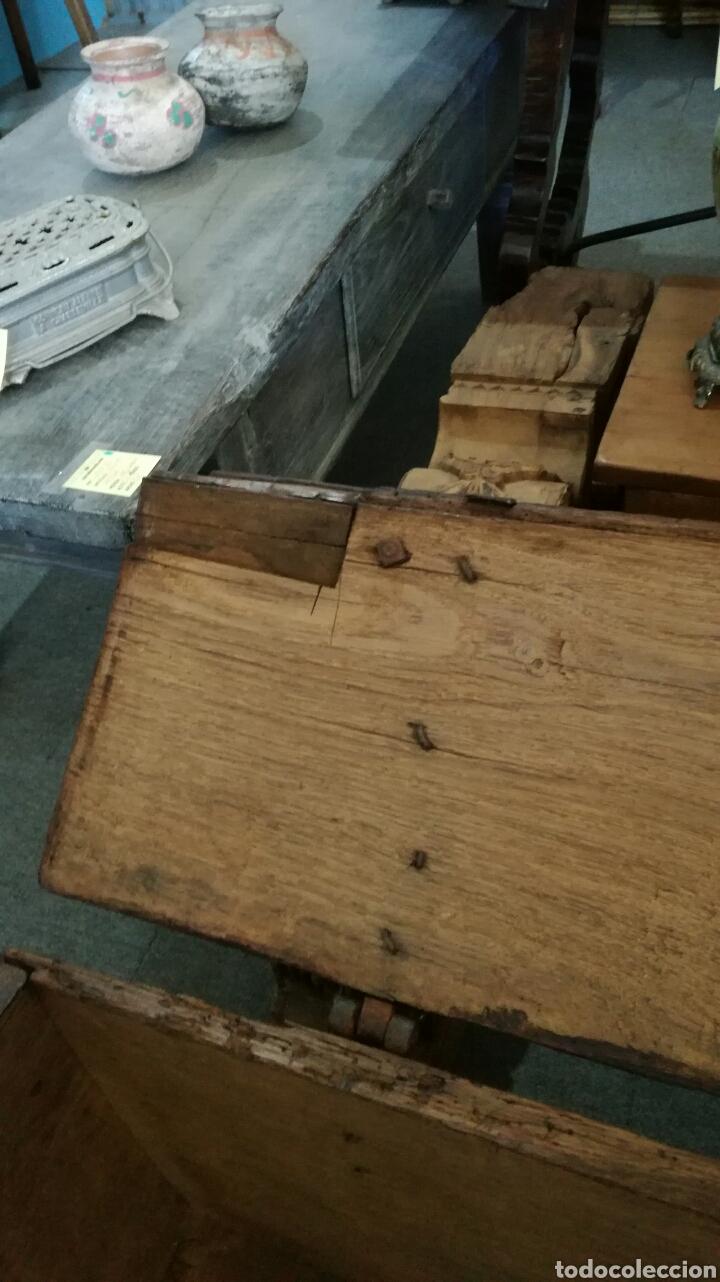 Antigüedades: Arca o baul antiguo de madera de roble - Foto 7 - 158501449