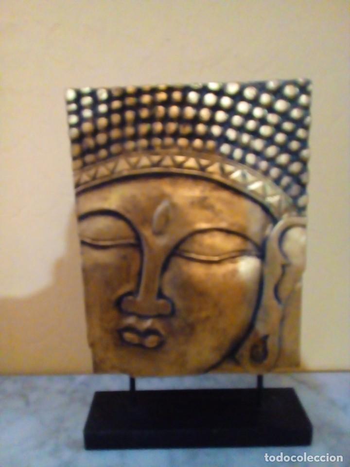 FIGURA DE BUDA DE MADERA TALLADA (Antigüedades - Hogar y Decoración - Figuras Antiguas)