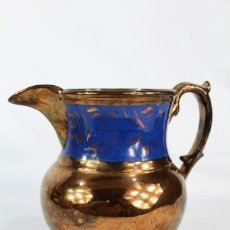 Antigüedades: REF 13 JARRA DE BRISTOL LUSTRE INGLATERRA S XIX MEDIDAS 14 CM DE ALTURA 16 CM DE PICO A OREJA. Lote 158516718