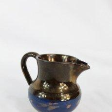 Antigüedades: REF 41 JARRA DE BRISTOL REFLEJOS S XIX MIDE 6 CM DE ALTURA 8 CM DE PICO A OREJA. Lote 158524058
