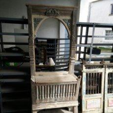 Antigüedades: MUEBLE ARCA CON ESPEJO. Lote 158525116