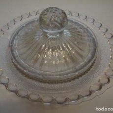 Antigüedades: MANTEQUILLERA. CRISTAL DE SANTA LUCIA. CARTAGENA, MURCIA.. Lote 158530446