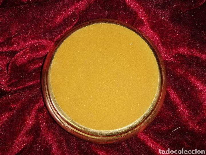 Antigüedades: Peana de oro fino original de la marca porcelana algora - Foto 2 - 158533437
