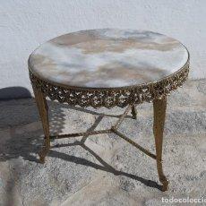 Antigüedades: MESA DE BRONCE Y MARMOL. Lote 158542202