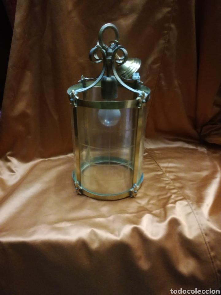 FAROL DE LATON (Antigüedades - Iluminación - Faroles Antiguos)