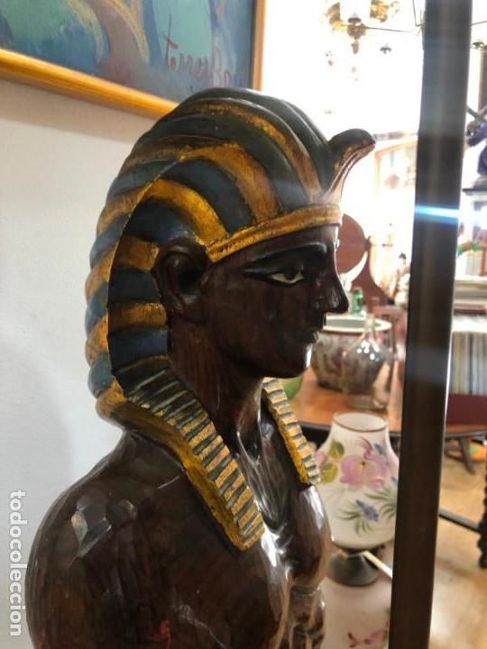 Antigüedades: FANTASTICA LAMPARA BLACKAMOOR VENECIANA TALLA MADERA - AÑOS 50 - MEDIDA TOTAL 190CM, FIGURA 148 CM - Foto 13 - 158561754