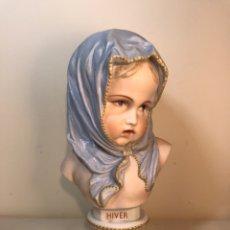 Antigüedades: FIGURA PORCELANA-FRANCIA-VION & BAURY- BUSTO: HIVER (INVIERNO)- 25 CM.. Lote 158562224