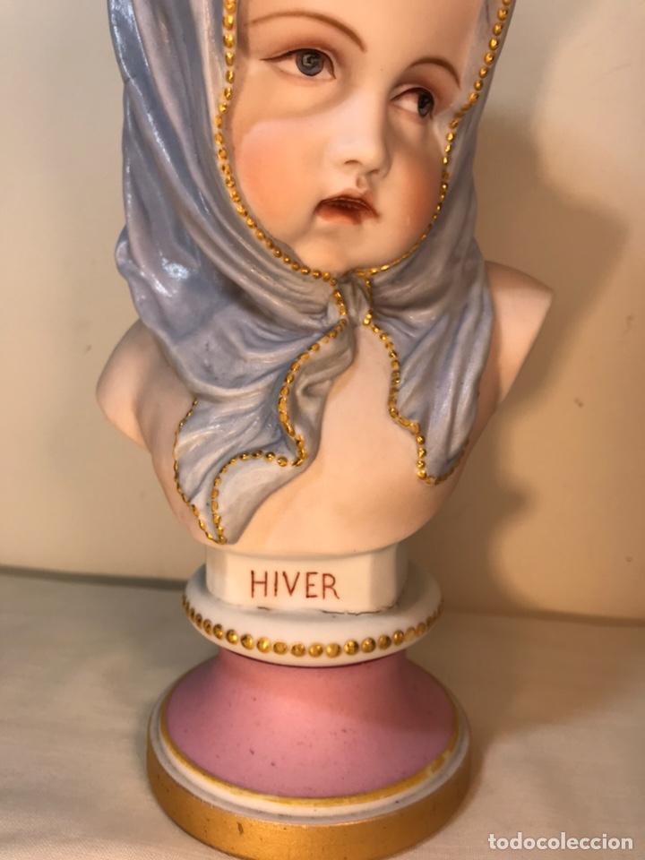 Antigüedades: Figura Porcelana-Francia-Vion & Baury- Busto: Hiver (Invierno)- 25 cm. - Foto 2 - 158562224