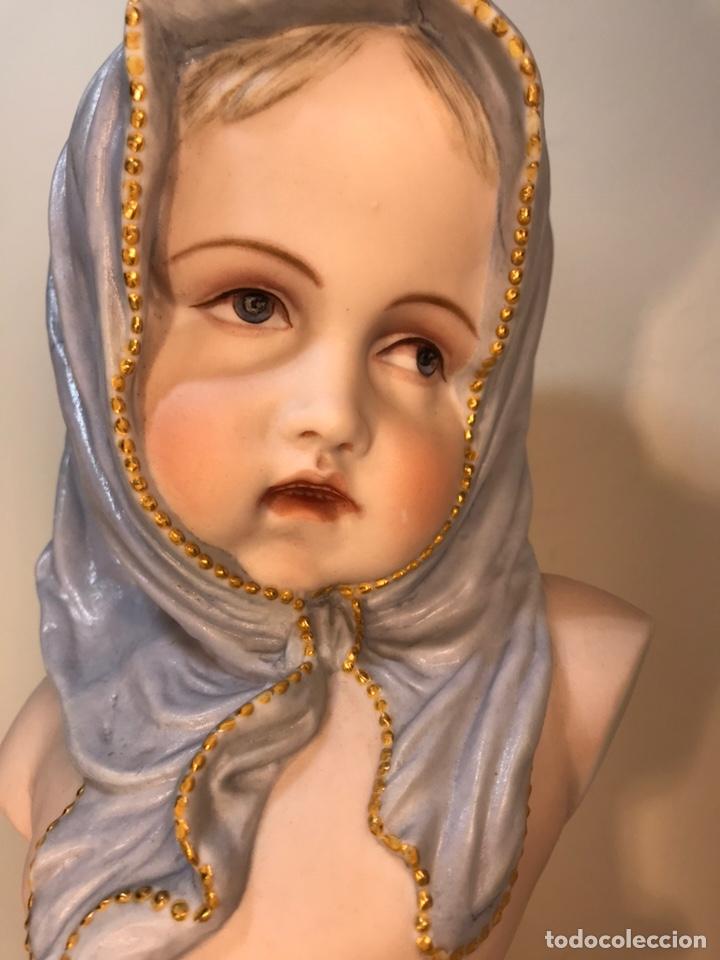 Antigüedades: Figura Porcelana-Francia-Vion & Baury- Busto: Hiver (Invierno)- 25 cm. - Foto 3 - 158562224