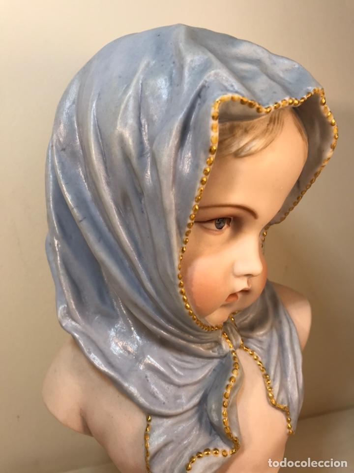 Antigüedades: Figura Porcelana-Francia-Vion & Baury- Busto: Hiver (Invierno)- 25 cm. - Foto 5 - 158562224