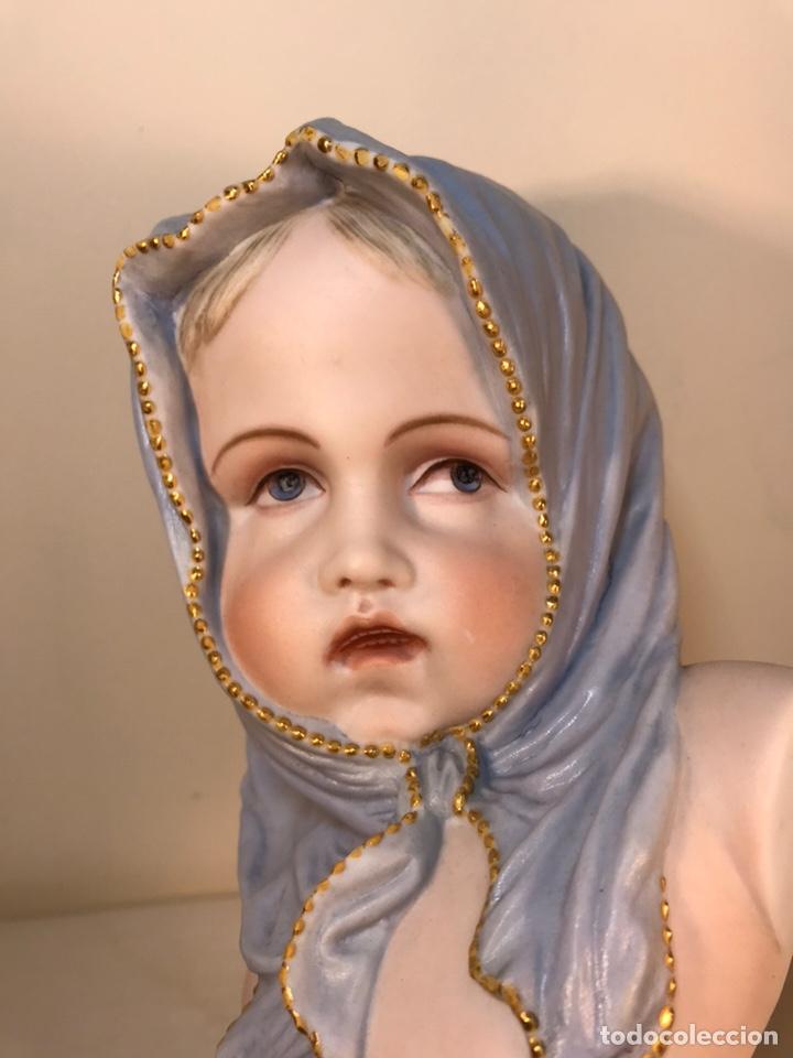 Antigüedades: Figura Porcelana-Francia-Vion & Baury- Busto: Hiver (Invierno)- 25 cm. - Foto 6 - 158562224