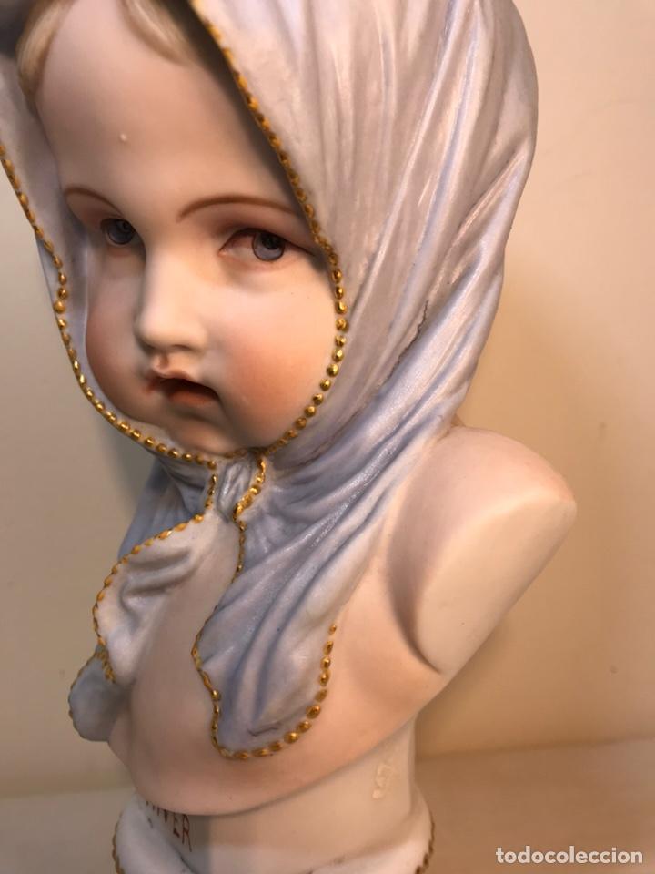 Antigüedades: Figura Porcelana-Francia-Vion & Baury- Busto: Hiver (Invierno)- 25 cm. - Foto 9 - 158562224