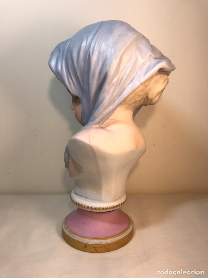 Antigüedades: Figura Porcelana-Francia-Vion & Baury- Busto: Hiver (Invierno)- 25 cm. - Foto 11 - 158562224