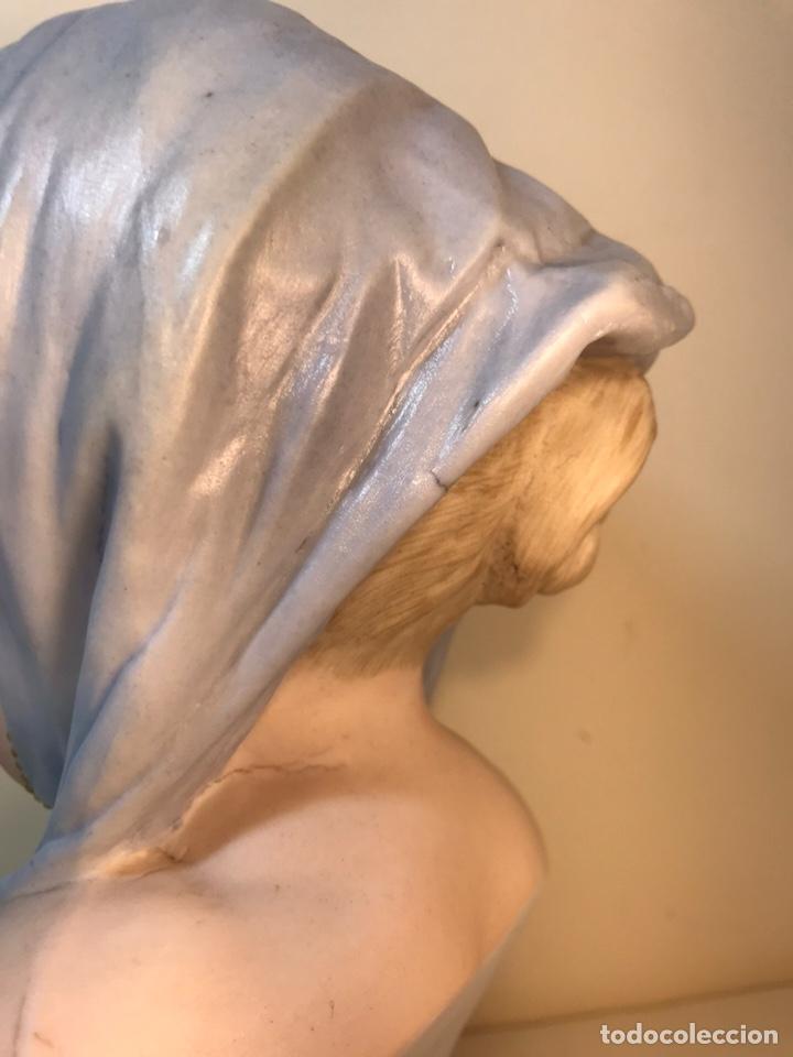 Antigüedades: Figura Porcelana-Francia-Vion & Baury- Busto: Hiver (Invierno)- 25 cm. - Foto 13 - 158562224